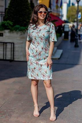 Очаровательное женское платье ткань *Софт* 54, 56, 58, 60 размер батал, фото 2