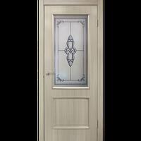 "Межкомнатная дверь ПВХ ""Версаль СС+ФП""   (2 ЦВЕТА)"