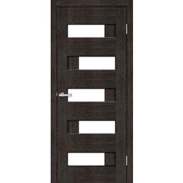 """Межкомнатная дверь ПВХ """"Домино ПО"""" стекло сатин  (8 ЦВЕТОВ), фото 2"""