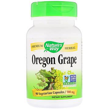 Natures Way, Oregon Grape , 500 mg, 90 Vegetarian Capsules