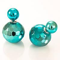 Серьги-пусеты Dior голубые