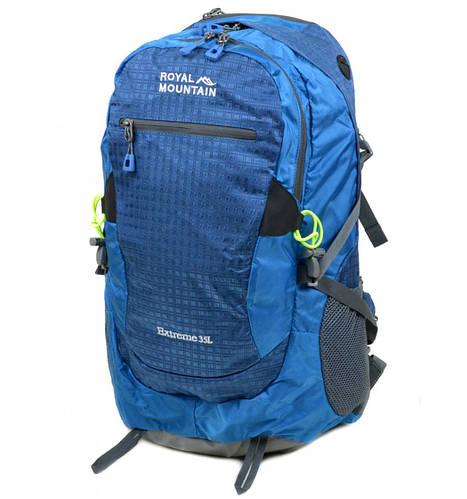 Вместительный туристический рюкзак 35 л. Royal Mountain 4096 blue синий