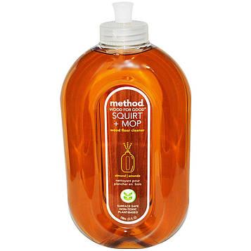 Method, Squirt + Mop, Чистящее средство для половых покрытий из дерева, Миндаль, 25 жидких унций (739 мл)