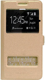 Чехол-книжка Meizu M5 Note Window Gold