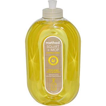 Method, Squirt + MOP, «Сбрызни и протри», средство для очистки твердых поверхностей, лимонный имбирь, 25 жидких унций (739 мл)