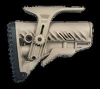 Приклад FAB Defense GLR-16 CP с регулируемой щекой для AR15/M16. Цвет - песочный