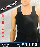 Мужская майка хлопок Maximeno Турция белая размер M (46-48) чёрная