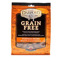 Darford, Не содержит зерновых, запеченные лакомства для собак, рецепт с тыквой, 12 унц. (340 г)