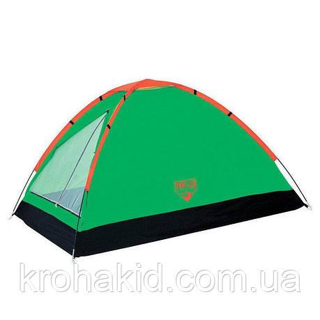 Палатка туристическая 68010 (210*210*130 см), 3-местная, антимоскитная сетка, сумка, фото 2