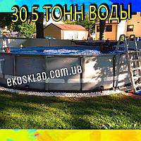 Каркасный бассейн Bestway для дачи и дома 56675 (610х122) с картриджным фильтром