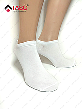 Носки мужские короткие Taso S104 летние из хлопка (оптом) 25 / M / 38-40, Белый