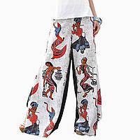 Женские штаны-клеш бохо стиль
