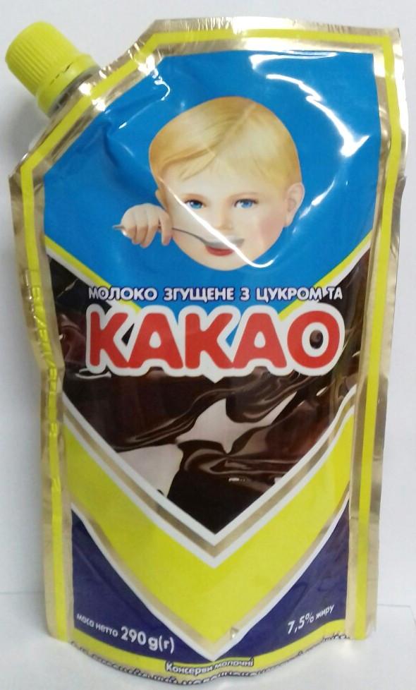 Молоко сгущенное с какао 290г Первомайский МКК