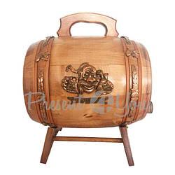 Бочка дубовая для вина «Казацкое развлечение», h-33 см, 5л (248-0000)