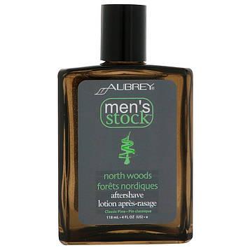 Aubrey Organics, Mens Stock, бальзам после бритья North Woods, классическая сосна, 4 жидкие унции (118 мл)