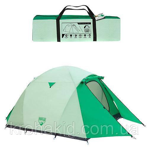 Трехместная палатка Bestway Cultiva 68046, Размеры: 200+140 х 180 х 125 см. Вес: 4,2 кг.