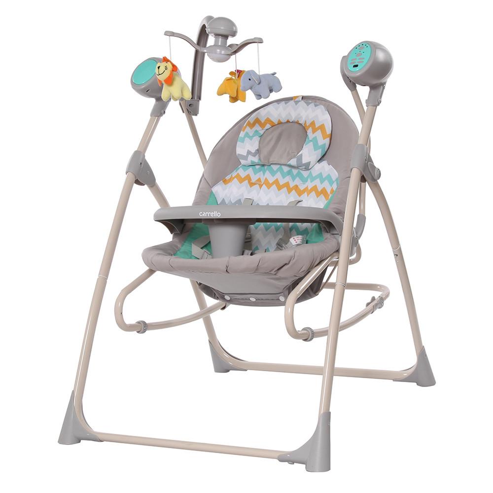 Детские колыбель-качели 3 в 1 CARRELLO Nanny / Grey Wave