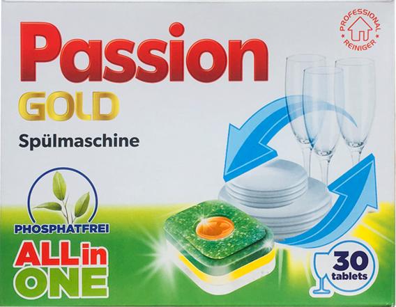 Таблетки для посудомоечной машины Passion Gold All in One 30 таб.