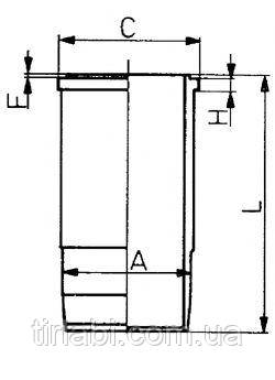 Гильза без уплотнений Рено MIDR 06.24.65