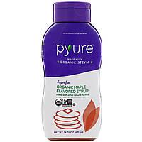 Pyure, Органический кленовый сироп без сахара и с ароматизаторами, 415 мл