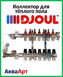 Коллектор теплого пола в сборе DJOUL 4 выхода 1х3/4