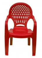 Детское кресло пластиковое Ромб красное