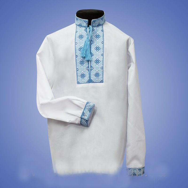 2786489cf7d Белая вышитая сорочка для мальчика - оптово - розничный интернет - магазин