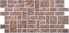 """Панели ПВХ камень """"Пиленый коричневый"""", фото 2"""