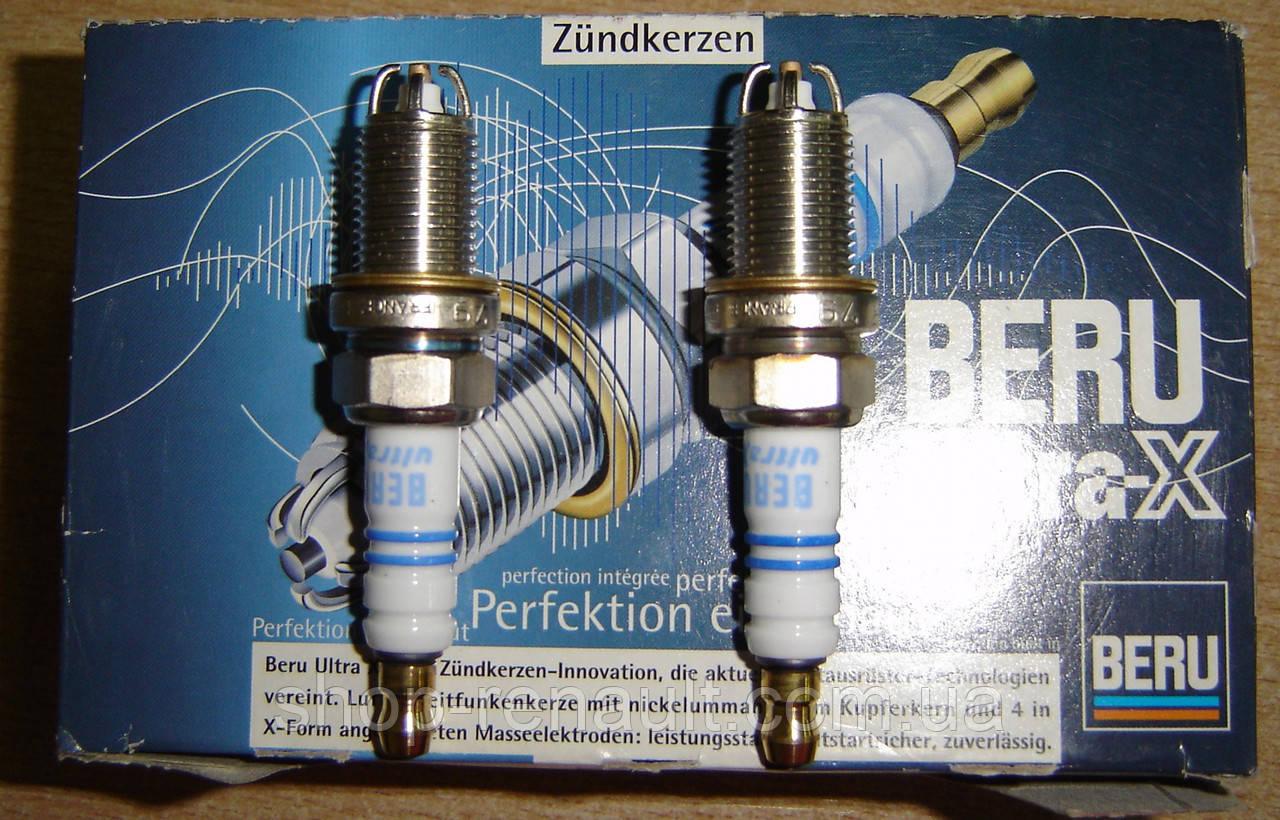 Свечи зажигания (к-т 4 шт) 4 контакта BERU UXF 79 SB 7700274154, 7700856910