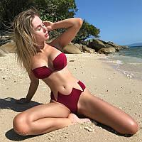 Женский купальник Бордо стринги бикини S, M, L