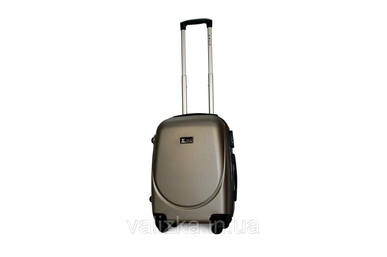 Малый пластиковый чемодан Fly 310 S+ для ручной клади шампань
