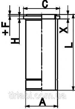 Гильза без уплотнений Мерседес Актрос (OM501/OM502) Euro 4/5