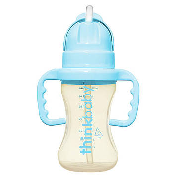 Think, Thinkbaby, бутылка-поилка для грудных детей Thinkster, стадия D, синего цвета, 9 унций