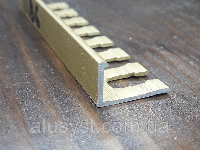 Алюминиевый профиль для плитки L-образный гибкий 17х11мм, 2,7м.п.