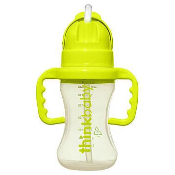 Think, Thinkbaby, Thinkster, соломенная бутылка Тинкстер, этап D, зеленая, 9 унций