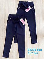 Лосины -брюки школьные для девочек 3-7 лет. Оптом.Турция.Синие.