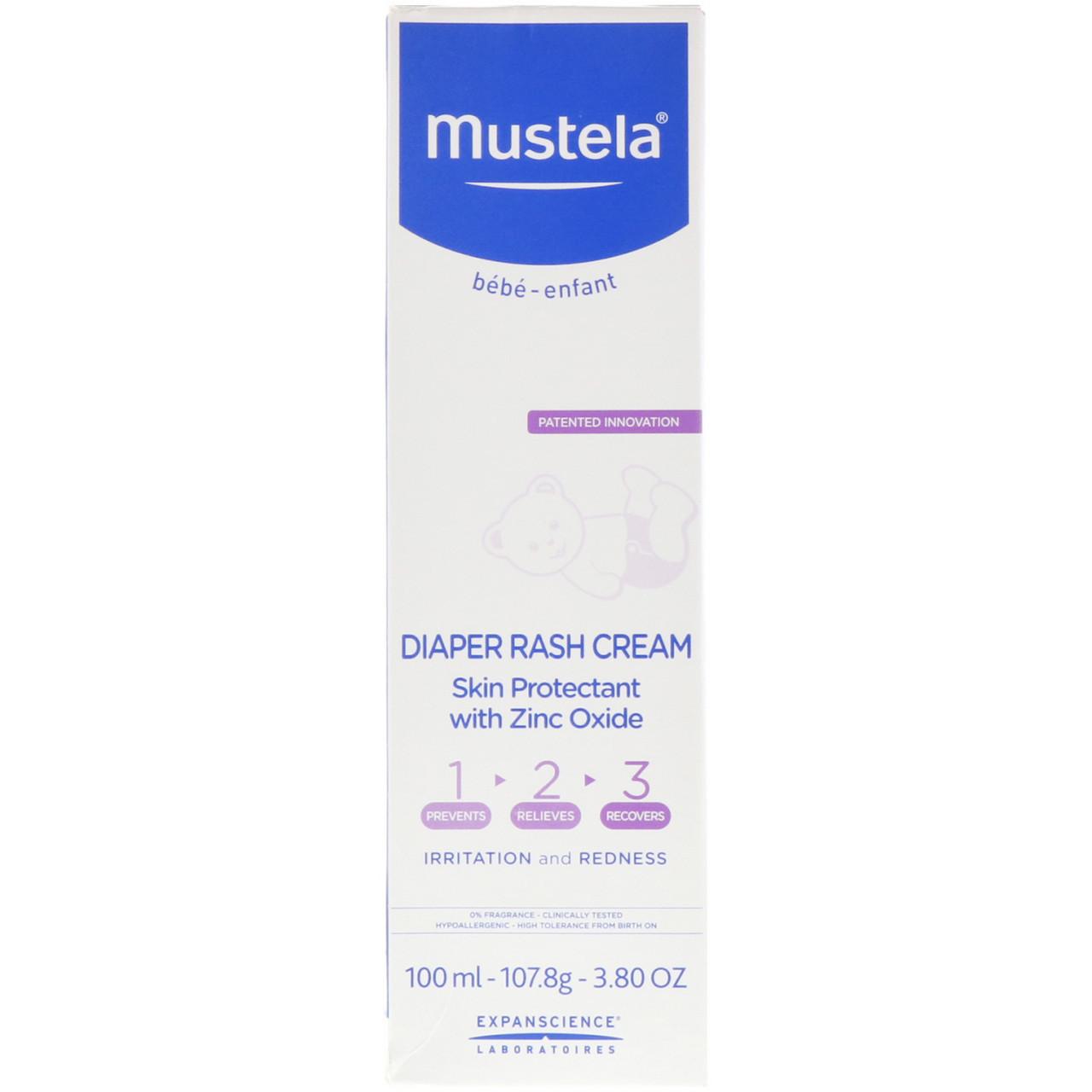 Mustela, Diaper Rash Cream 1-2-3, 3.8 oz (100 ml)
