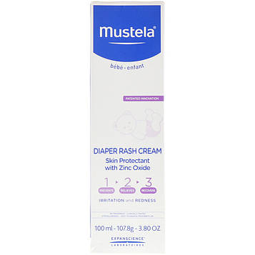 Mustela, Diaper Rash Cream 1-2-3, 3.8 oz (100 ml)