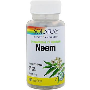 Solaray, Органический ним, 100 растительных капсул