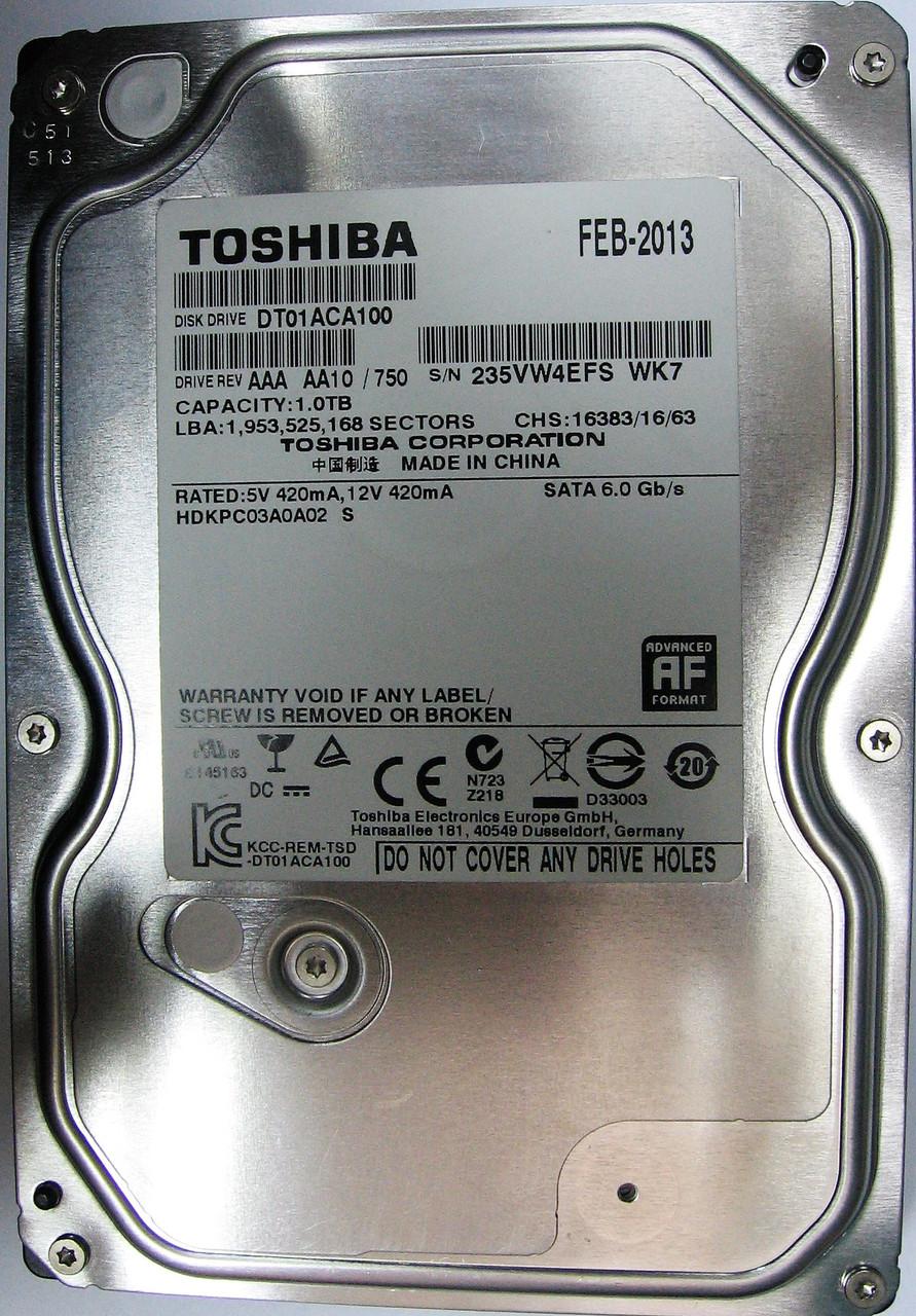 HDD 1TB 7200rpm 32MB SATA III 3.5 Toshiba DT01ACA100 235VW4EFSWK7