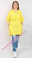 Ошатна жовта сорочка-туніка з воланами і логотипом Marissis, фото 1