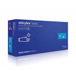 Нітрилові рукавички без пудри Mercator Medical PF PROTECT Nitrylex Basic 100 шт/уп