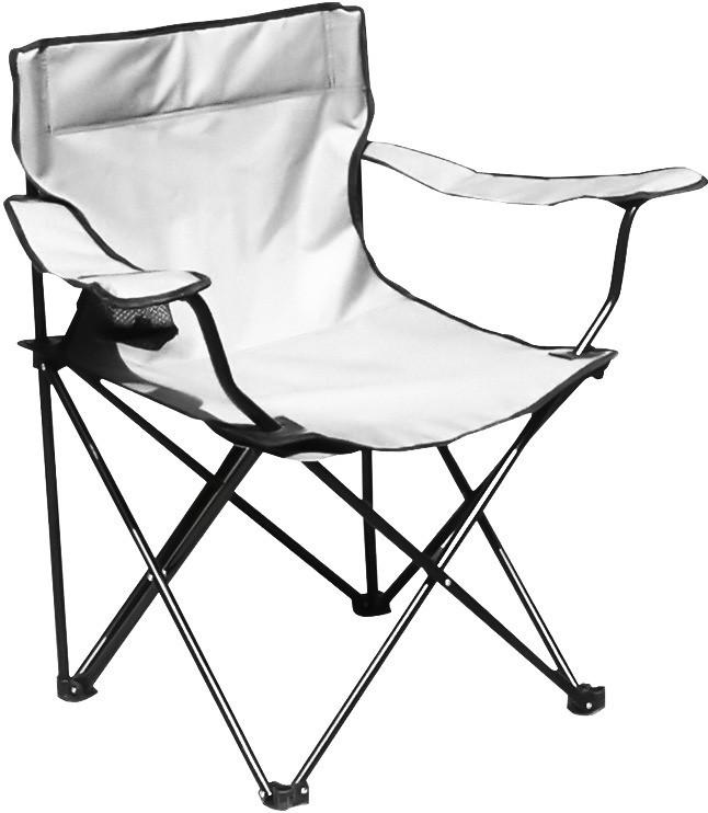 Раскладное кресло паук с подстаканником B15701, белое