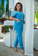 Брючный костюм женский Турецкая костюмка Размер 50 52 54 56 58 60 В наличии 5 цветов, фото 1
