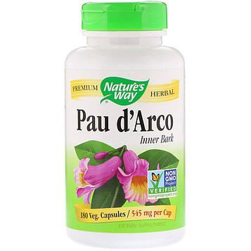 Natures Way, Pau dArco Inner Bark, 545 mg, 180 Veg. Capsules