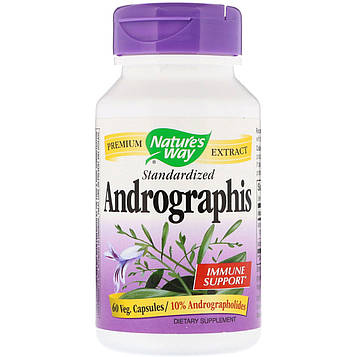 Natures Way, Andrographis, Standardized, 60 Veg. Capsules