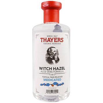 Thayers, Гамамелис, лекарственное средство, местное обезболивающее, 12 жидких унций (355 мл)