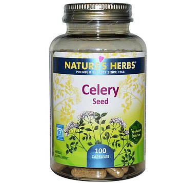 Natures Herbs, Семя сельдерея, 100 капсул
