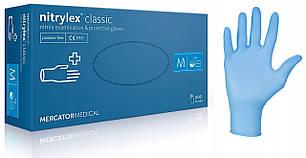Нітрилові рукавички без пудри Mercator Medical Nitrylex Classic 200 шт/уп