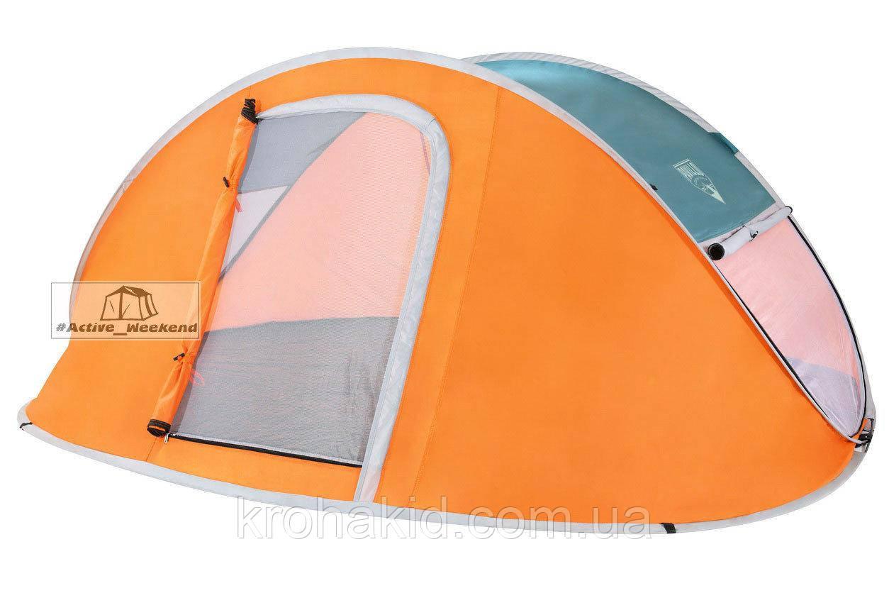 Двухместная автоматическая  палатка Nucamp Bestway 68004, размером  235х145х100 см.